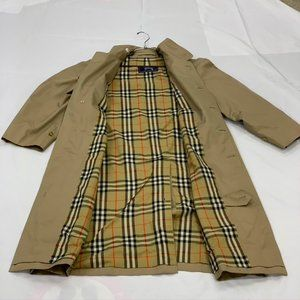 Vintage Burberrys of London Tan Long Trench Lined